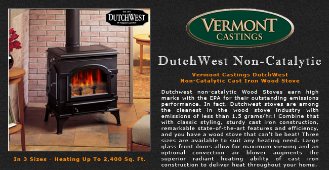 Vermont Castings Dutchwest Non Catalytic Wood Stove Adams