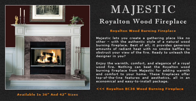 Majestic Royalton Wood Fireplace Adams Stove Company Wood Stoves In