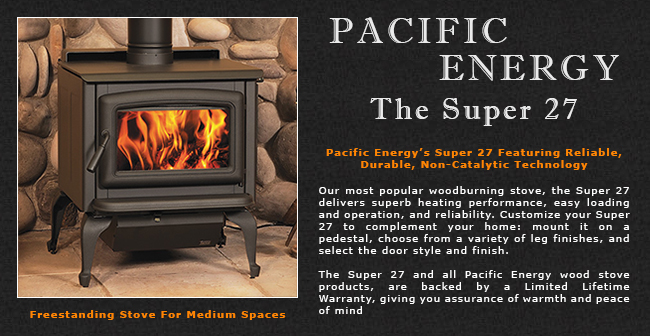 Pacific Energy Super 27 Wood Stove Adams Stove Company