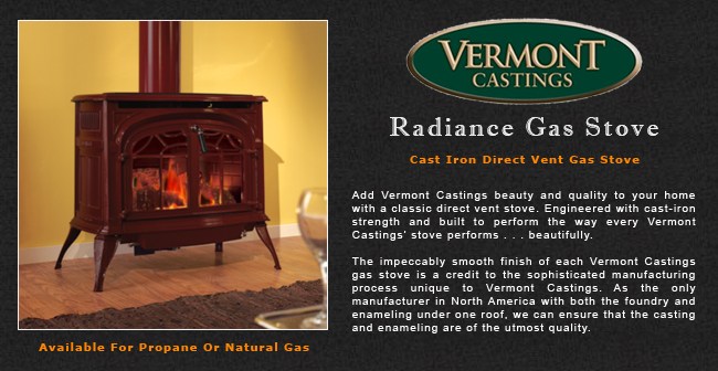 Vermont Castings Radiance Direct Vent Gas Stove Adams