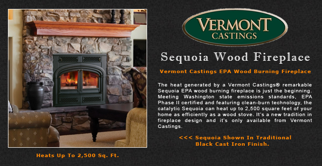 Vermont Castings Sequoia Wood Burning Fireplace Adams