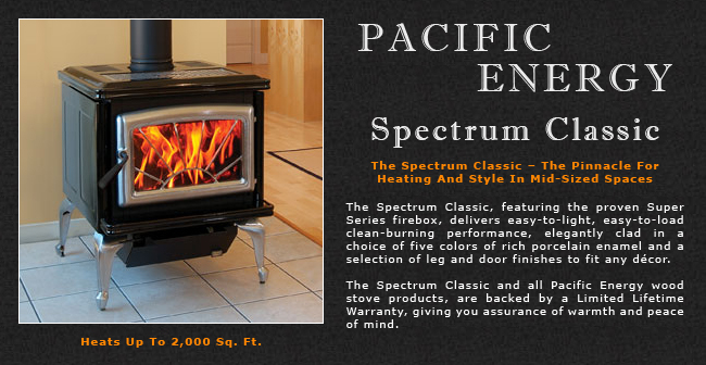 Pacific Energy Spectrum Classic Wood Stove Adams Stove Company Wood Stoves In Western Mass Pellet Stoves In Massachusetts Wood Stoves Pellet Stoves In The Berkshires